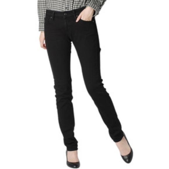 b82346c1 Uniqlo Black Skinny Jeans 27x33 Mid Rise Stretch